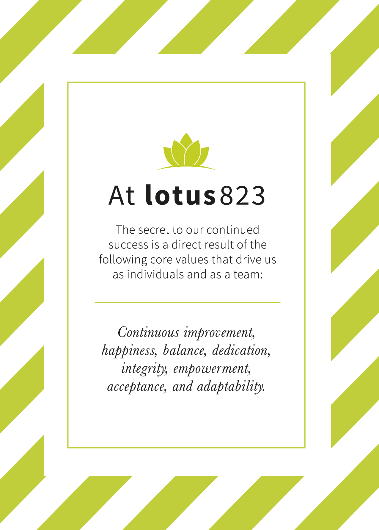 lotus823 core values